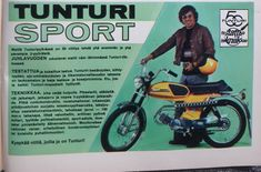 Apu 1972 Tunturi sport Moped Scooter, Good Old Times, Old Toys, Vintage Ads, Retro, Stylish, Old Fashioned Toys, Vintage Advertisements, Retro Illustration
