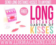 Ever wanted to kiss your long distance guy or gal but the distance made it physically impossible? Aren't you tired of the lack of kisses, hugs and cuddles?! Well we can't promise to remedy this problem for you by inventing a way to kiss from a distance, but you CAN …