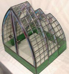 Stained Glass Terrarium  Three Sails