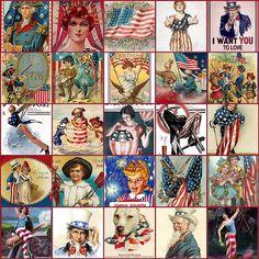 Vintage 4th of July Postcard Collage