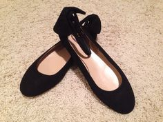 J CREW SUEDE ANKLE-STRAP BALLET FLATS BLACK SZ 6.5 $175 NEW SOLD OUT SIZE 08622 #JCrew #BalletFlats