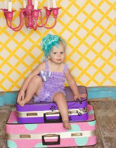 Pettiromper Petti Romper  Lace Ruffles  Lilac by DreamSpunKids, $29.95