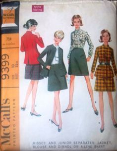 McCall's 9399 Pattern for Misses' Jacket by VictorianWardrobe, $8.00