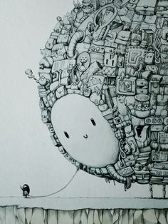 The Companion - A1 ink Drawing - JOQUZ