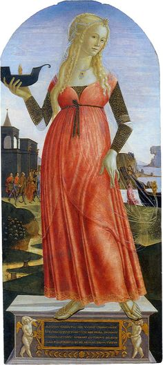 Claudia Quinta Italian cir. 1490-1495 love this dress and the flimy over skirt