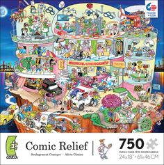 Comic Relief - Whacky Hospital Cartoons Jigsaw Puzzle Release year 2012.  Ceaco Puzzle.
