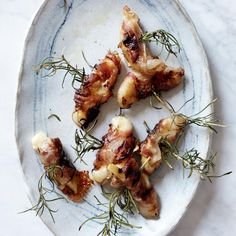 Apples On Horseback | These simple, delicious hors d'oeuvres are just apples with cheese and pancetta.