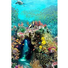 Beneath the Waves: A Hoffman Spectrum Digital Print