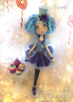 'Popcicle' Sweet Treat Urchin art doll by Vicki @ Lilliput Loft