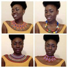 Beaded jewelry..  South African jewelry.  Handmade beaded jewelry.  Handmade statement necklaces. Www.femmesroyales.com