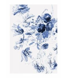 Royal Blue Flower Wall Murals and Photo Wallpaper from KEK Amsterdam. Dutch Design Wallpaper with Flowers and Floral for your interior. Flowers Photos Wallpaper, Tree Wallpaper, Photo Wallpaper, Wallpaper Murals, Royal Blue Wallpaper, Blue Flower Wallpaper, Blue Flower Photos, Royal Blue Flowers, Amsterdam Wallpaper
