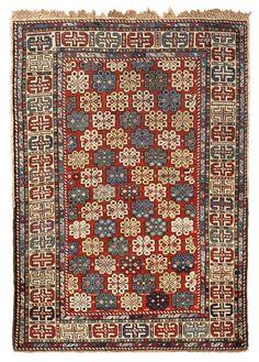 45136 Antique Shirvan Caucasian Carpet