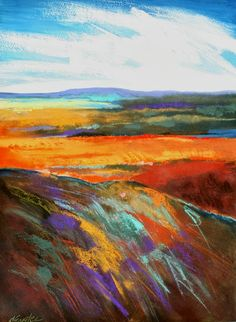 Carol Engles Art: Brownscape Two, large, abstract landscape by Carol Engles