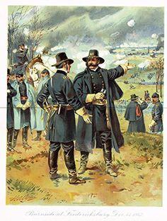 Ogden's History -Civil War - BURNSIDE AT FREDERICKSBURG, 1862 - Chromolithograph - 1899