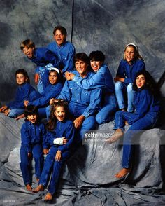 (Middle row, L-R) Brody Jenner, Kourtney Kardashian, Bruce Jenner, Kris Jenner, Cassandra Jenner, Kim Kardashian, (top row, L-R) Brandon Jenner, Burton Jenner,(bottom row, L-R) Robert Kardashian, Jr., Khloe Kardashian of the celebrity Jenner and Kardashian families featured in the TV show 'Keeping Up With The Kardashians' pose for a family portrait in 1991 in Los Angeles, California . (Photo by Maureen Donaldson/Michael Ochs Archives/Getty Images)