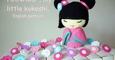 """When I published the Spanish pattern of my little kokeshi doll """"Hanako"""" in May of this year, I never imagined that you would like it so m..."""