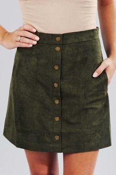Turn Back Time Skirt: Hunter Green #shophopes