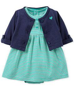 Carter's Baby Girls' 2-Piece Dress Cardigan Set