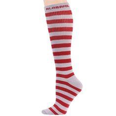 Alabama striped knee hi socks
