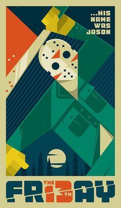 Friday the 13th - movie poster - Szoki Character Movie illustration