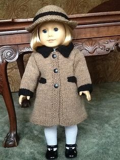 Ravelry: American Girl Doll Town and Country Coat Sets pattern by Jacqueline Gibb