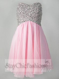 pink short graduation dress | Prom Dresses :: 2014 Prom Dresses :: Dazzling Pink Sequin Top Short ...