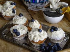 Blueberry and white chocolate cupcakes!! #blueberry #whitechocolate #cupcakes #london #sweet #delicious #iloveit
