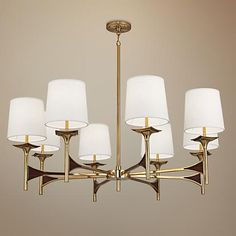 Browse all large chandelier designs - Perfect for high ceilings, master bedroom or great room. Add extra elegance and style - Large chandeliers from Lamps Plus. Antique Brass Chandelier, Pendant Chandelier, Lantern Pendant, Chandelier Lighting, Simple Chandelier, Dining Chandelier, Steel Frame Construction, Designer Shades, Large Chandeliers