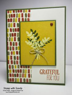 Stamp With Sandy: Bleached Grateful for You, For All Things Stamp Set, Stampin' Up