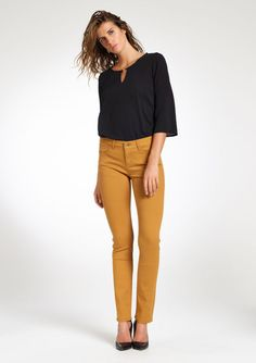 Lola Liza jeans dark yellow