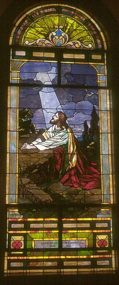 TN Stained glass in the sanctuary of First United Methodist Church Mt Pleasant, TN     tjn
