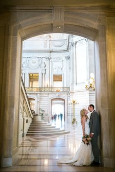 City hall SF Photography: Jasmine Lee Photography - jasmineleephotography.com  Read More: http://www.stylemepretty.com/california-weddings/2014/08/07/beautiful-san-francisco-city-hall-elopement/