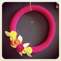 DIY :: Felt Flower Door Wreath