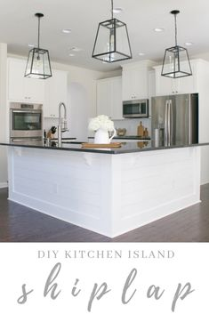 Easy + Affordable DIY Kitchen Island Shiplap - Home and Hallow Best Picture For. - Easy + Affordable DIY Kitchen Island Shiplap – Home and Hallow Best Picture For curved kitchen i - Curved Kitchen Island, Farmhouse Kitchen Island, Kitchen Island Decor, Kitchen Islands, Kitchen Island Remodel Ideas, Farmhouse Sinks, Updated Kitchen, New Kitchen, Kitchen Ideas