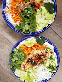Thai vermicelli salad in 2019 recipes to cook Chicken Vermicelli, Vermicelli Salad, Vermicelli Recipes, Vermicelli Bowl Recipe, Asian Recipes, Healthy Recipes, Vietnamese Recipes, Chicken Rice Bowls, Chicken Salad