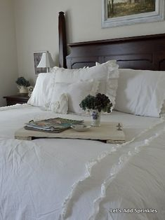 Simply Shabby Chic by Rachel Ashwell for Target. All White Bedding $99.00