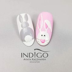 Easter nails are the cutest ones among the rest of the spring ideas. There are so many different designs that are popular for Easter Sunday. We have covered the best nail art in this article for your inspiration! Cute Nail Art, Cute Nails, Pretty Nails, Acrylic Nails, Gel Nails, Bunny Nails, Animal Nail Art, Easter Nail Art, Indigo Nails