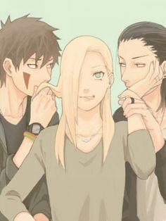 Kiba, Ino, and Shikamaru