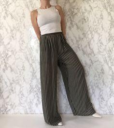 Spring-Summer 2016 / 1980s striped sheer palazzo pants
