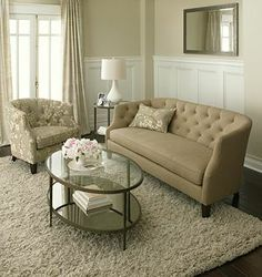 Clairemont Coffee Table (I like the chair and couch combo too)