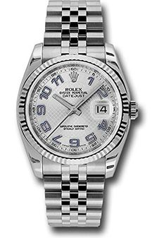 Rolex Watches Collection For Men : Rolex Datejust 36 White Gold Fluted Bezel Luxury Watch 116234 - Watches Topia - Watches: Best Lists, Trends & the Latest Styles Rolex Watches For Men, Vintage Watches For Men, Luxury Watches For Men, Men's Watches, Louis Vuitton Watches, Rolex Air King, Buy Rolex, Rolex Women, Oyster Perpetual Datejust