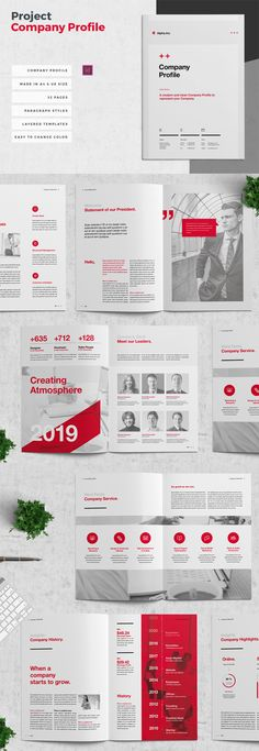 Clean Company Profile Brochure Template Word 32 pages Company Profile Design Templates, Cleaning Companies, Affinity Designer, Print Templates, Brochure Template, Graphic Design, Words, Card Templates Printable, Flyer Template