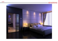 Camera da letto serale