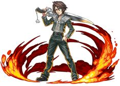 Squall Leonhart from Puzzle & Dragons