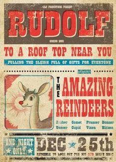 Rudolf poster print