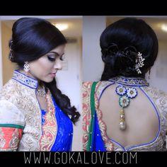 Hairstyle for an Indian Wedding Reception! Boston, Massachusetts, Connecticut, New York, Hairstylist, Makeup Artist, Bride, Bridal, Pakistani Wedding
