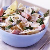 Ham and Asparagus Bows Recipe