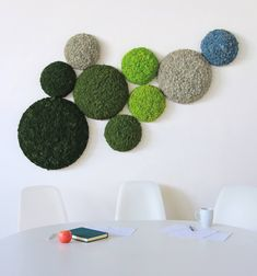 Convex Circle Moss Panels from Nordgröna. Design Shop, Moss Wall Art, Moss Plant, Balcony Flowers, Green Wall Art, Hacks, Arte Floral, Plant Wall, Nature Decor