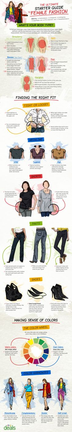 The Ultimate Starter Guide to Female Fashion #infographic #Fashion #Lifestyle