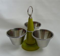 Vintage Condiment Holder Rotating Server Retro Green by chriscre